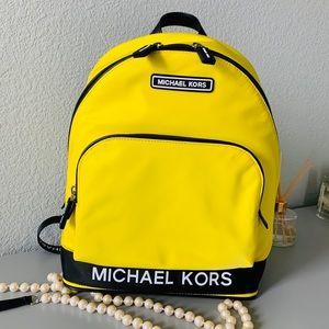 NWT Michael Kors Sport Large Brt Yellow Backpack